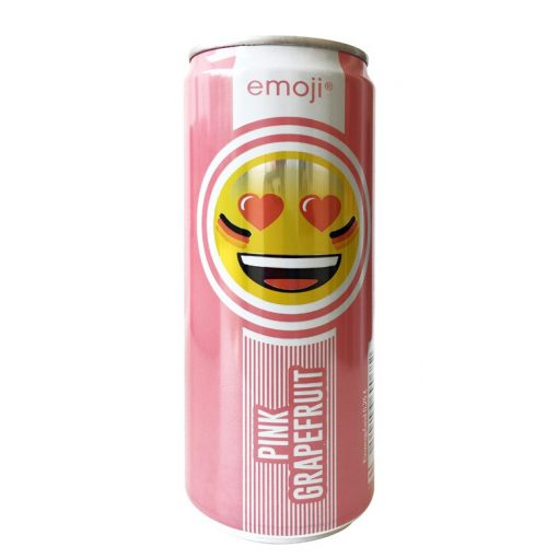 Emoji Drink-Keep smiling-pink grapefruit ízű  ital 300ml alu dobozban