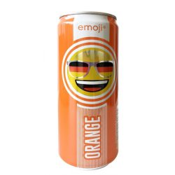 Emoji Drink-Keep smiling-narancs ízű szénsavas ital 300ml alu dobozban