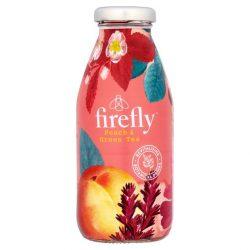 Firefly Revitalizáló őszibarack-zöld tea ízesítésű ital 330ml üveg palackban