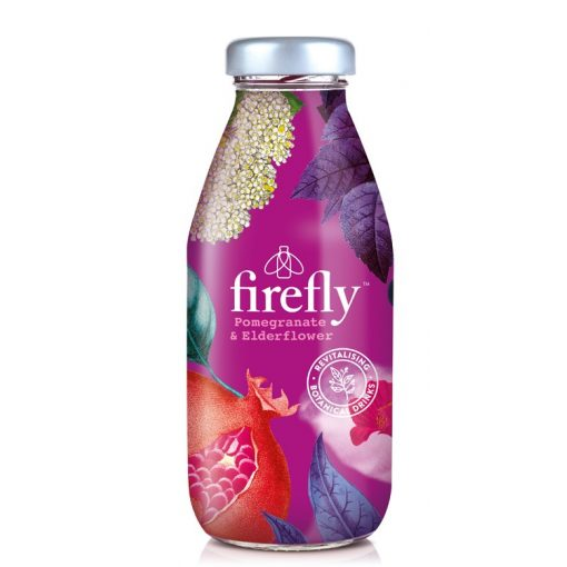 Firefly Revitaliziáló-gránátalma-lime-elderflower ital 330ml üveg palackban