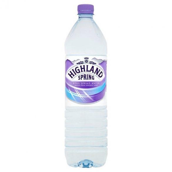 Highland spring water 1,5l mentes forrásvíz PET palackban