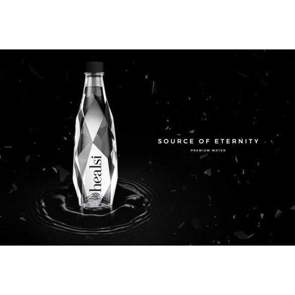 Healsi Water Diamond Bottle Crystal 0,4l mentes ásványvíz üveg palackban