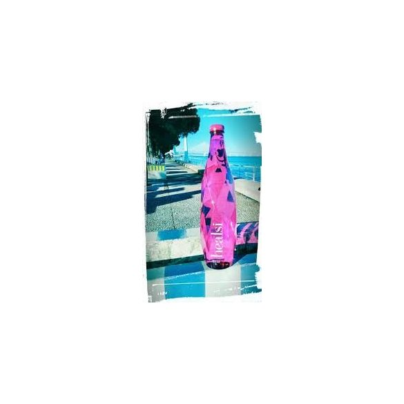 Healsi Water Diamond Bottle Pink 0,5l mentes ásványvíz PET palackban