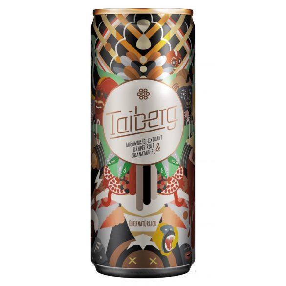 Taiberg Energy Drink-taiga gyökér-gránátalma-grapefruit ízű ital 250ml alu dobozban